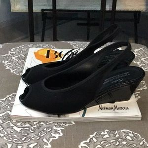 Donald J. Pliner Couture Peep Toe Slingback Wedges